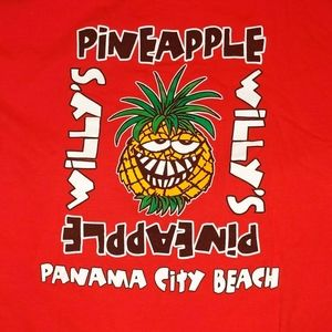 Gildan Tops - Pineapple Willy's Tee, Panama City Beach